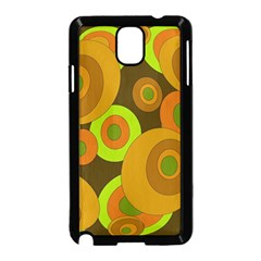 Brown pattern Samsung Galaxy Note 3 Neo Hardshell Case (Black)