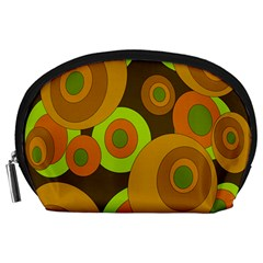 Brown pattern Accessory Pouches (Large)