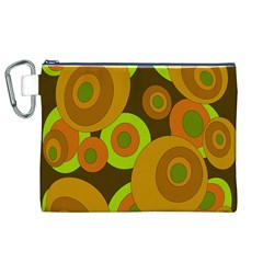 Brown pattern Canvas Cosmetic Bag (XL)