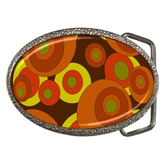 Orange pattern Belt Buckles