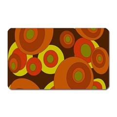 Orange pattern Magnet (Rectangular)