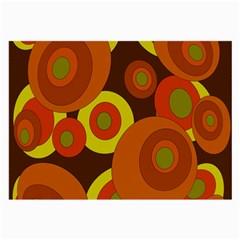 Orange pattern Large Glasses Cloth (2-Side)