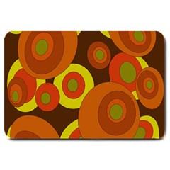 Orange pattern Large Doormat