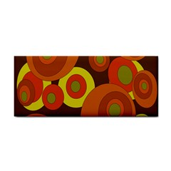 Orange Pattern Hand Towel