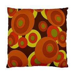 Orange pattern Standard Cushion Case (One Side)
