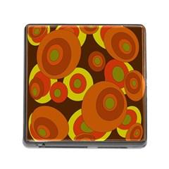 Orange Pattern Memory Card Reader (square)