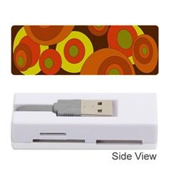 Orange pattern Memory Card Reader (Stick)