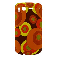 Orange pattern HTC Desire S Hardshell Case