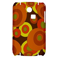 Orange pattern Samsung S3350 Hardshell Case