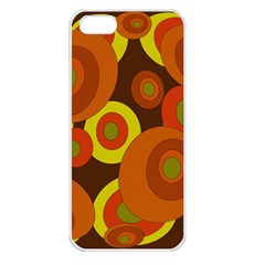 Orange pattern Apple iPhone 5 Seamless Case (White)