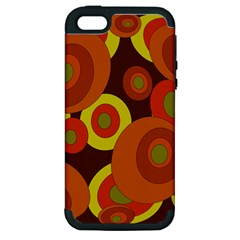 Orange pattern Apple iPhone 5 Hardshell Case (PC+Silicone)