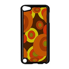Orange pattern Apple iPod Touch 5 Case (Black)