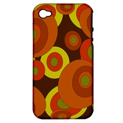Orange pattern Apple iPhone 4/4S Hardshell Case (PC+Silicone)