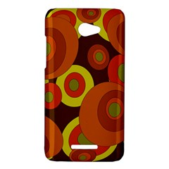 Orange pattern HTC Butterfly X920E Hardshell Case