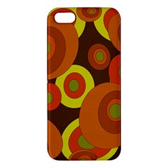 Orange pattern Apple iPhone 5 Premium Hardshell Case