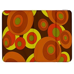 Orange pattern Samsung Galaxy Tab 7  P1000 Flip Case