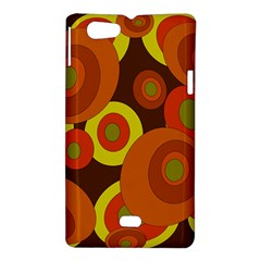 Orange pattern Sony Xperia Miro