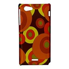 Orange pattern Sony Xperia J