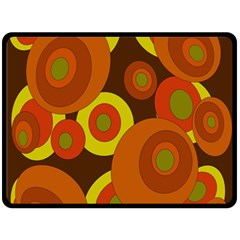 Orange pattern Double Sided Fleece Blanket (Large)
