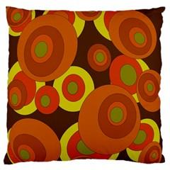 Orange pattern Large Flano Cushion Case (One Side)