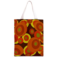 Orange pattern Classic Light Tote Bag