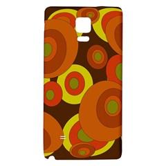 Orange pattern Galaxy Note 4 Back Case