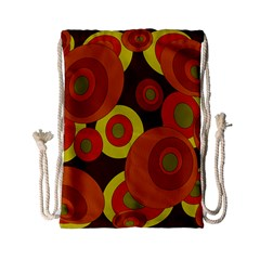 Orange pattern Drawstring Bag (Small)