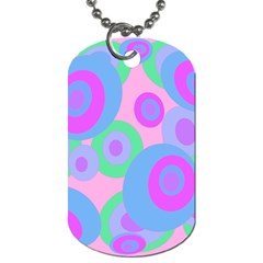 Pink pattern Dog Tag (Two Sides)