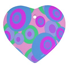 Pink pattern Heart Ornament (2 Sides)