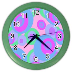 Pink pattern Color Wall Clocks