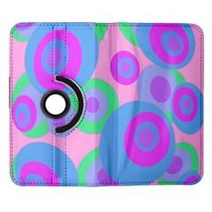Pink pattern Samsung Galaxy Note II Flip 360 Case