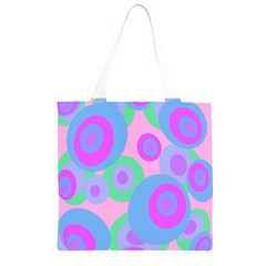 Pink pattern Grocery Light Tote Bag