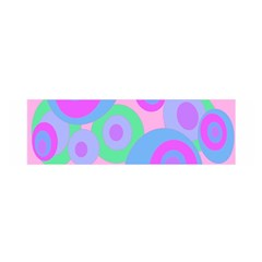 Pink pattern Satin Scarf (Oblong)