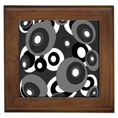 Gray pattern Framed Tiles