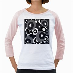 Gray pattern Girly Raglans