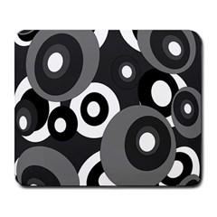 Gray pattern Large Mousepads