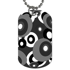 Gray pattern Dog Tag (One Side)