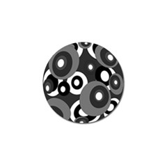Gray pattern Golf Ball Marker (10 pack)