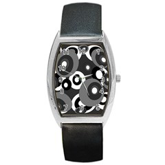 Gray pattern Barrel Style Metal Watch