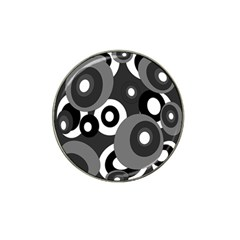 Gray pattern Hat Clip Ball Marker (10 pack)
