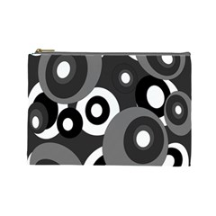 Gray pattern Cosmetic Bag (Large)