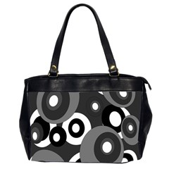 Gray pattern Office Handbags (2 Sides)