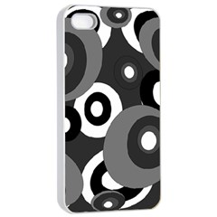 Gray pattern Apple iPhone 4/4s Seamless Case (White)