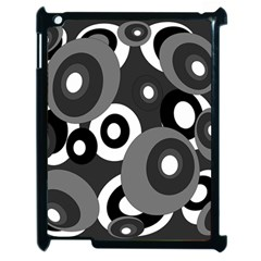 Gray pattern Apple iPad 2 Case (Black)