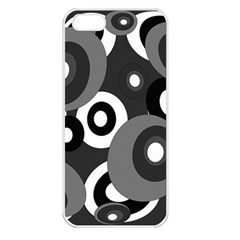 Gray pattern Apple iPhone 5 Seamless Case (White)