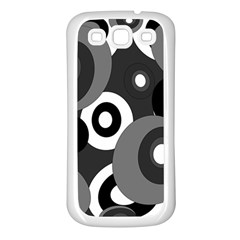 Gray pattern Samsung Galaxy S3 Back Case (White)