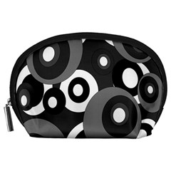 Gray pattern Accessory Pouches (Large)