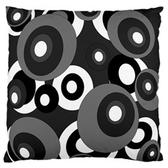Gray pattern Large Flano Cushion Case (Two Sides)