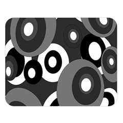 Gray pattern Double Sided Flano Blanket (Large)