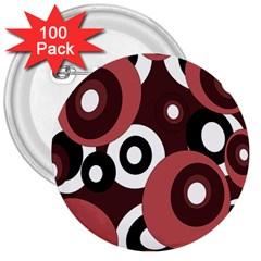 Decorative pattern 3  Buttons (100 pack)